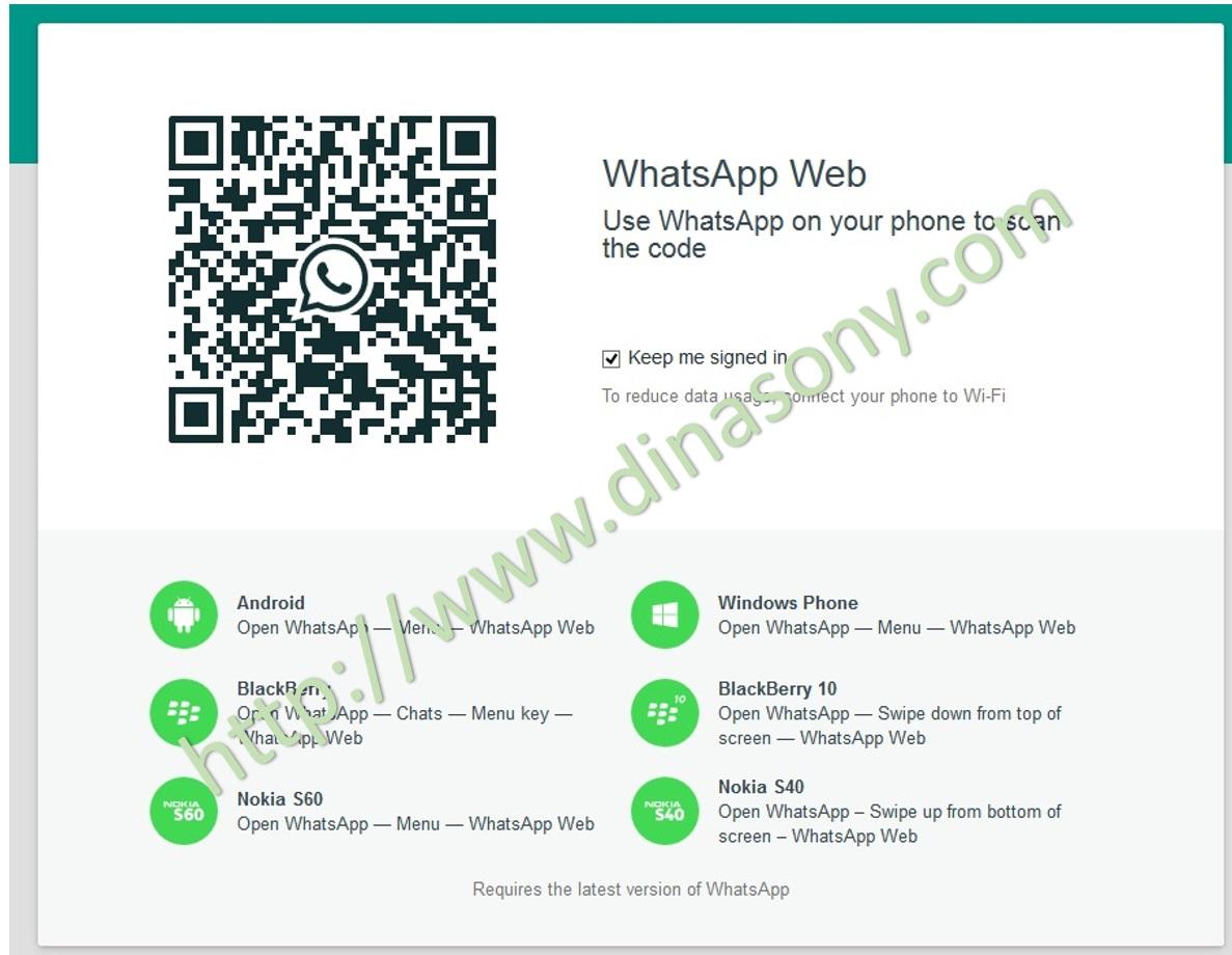 Cara Menggunakan Whatsapp Web dari PC atau Laptop