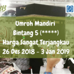 Open Seat : Umroh Mandiri Akhir Tahun / Liburan 26 Des 2018 – 3 Jan 2019